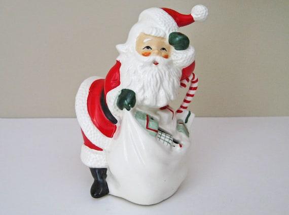 Vintage 1950's Santa Bank - Norcrest Ceramic Santa Figurine
