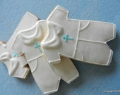 Baby Boy Baptism or Christening Jumper -Hand Decorated Sugar Cookie Favors (#2359)