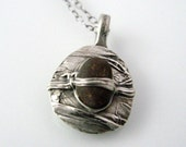 Fine Silver Necklace with Montana River Rock Pebble Made-to-Order 668