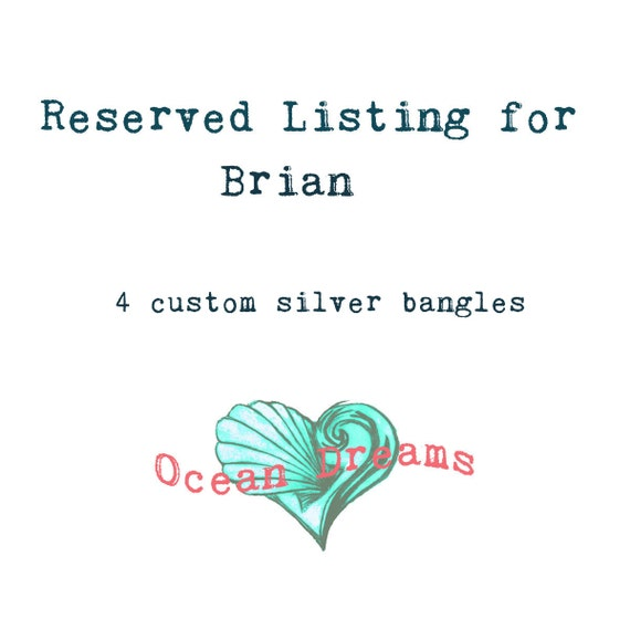 Reserved Listing for Brian T.