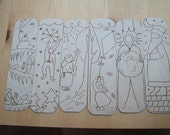 SALE waldorf inspired birch plywood bookmarks