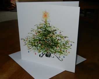 Christmas Card - 6 x 6 (15 x 15 cm) - Christmas Tree