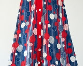 Vintage 60s 70s SKIRT with adorable print.