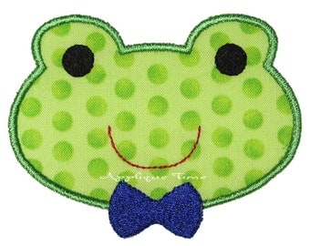 Instant Download Boy Frog Machine Embroidery Applique Design 4x4, 5x7 and 6x10
