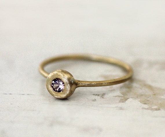 Reserved. Malaya Garnet ring. 18K gold. Sweet and simple. Savannah.