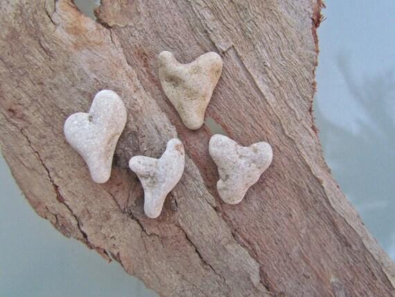 Beautiful Heart Shaped Rocks 4 Pcs -- FREE SHIPPING