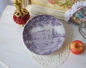 Toile Manor Plate for Dollhouse