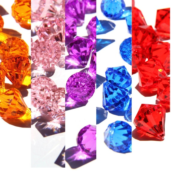Diamond Vase Filler Acrylic Ice Rock Confetti for Wedding Table Decorations and Floral Arrangements