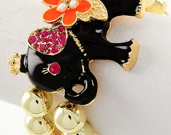 Cutest Colorful Elephant Bracelet With Trunk up to Bring You Good Luck Every Time You Wear It