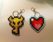 The Legend of Zelda Key to My Heart Keychain Set