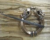 Serpent zoomorphic Viking era style pin