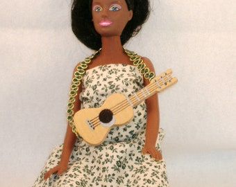 Handmade Barbie Ukelele - For the Musical Barbie