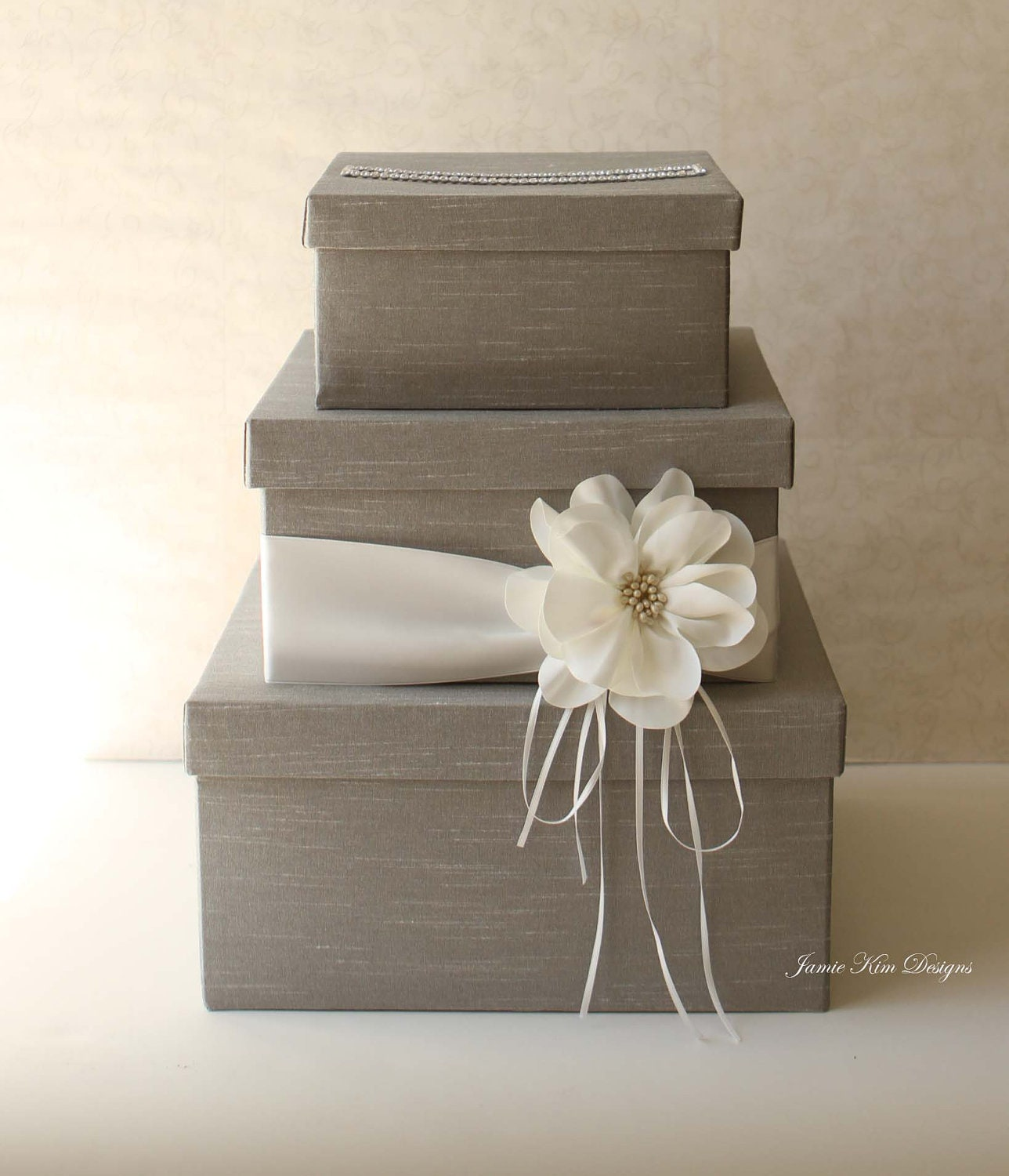 Wedding Card Holder Gift Ideas: Wedding Card Box Wedding Money Box Gift Card Box Custom Made