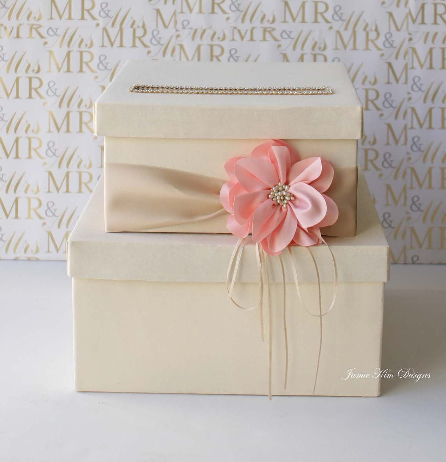 Received Wedding Gift Without Card : Wedding Card Box Wedding Money Box Gift Card Box Custom Made