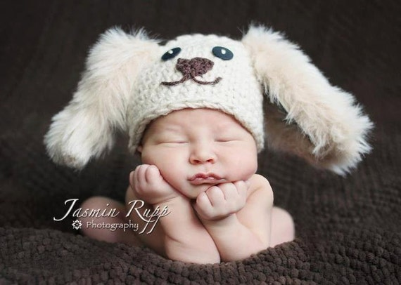 Newborn Boy Puppy Dog - Short-eared or Long-eared Made to Order