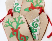 christmas gift tags assorted- set of 4