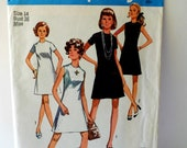Vintage Sewing Pattern - Simplicity - Size 14 - Women, Womens 1970s Dress