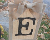 Adorably Shabby Burlap Flag