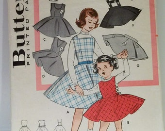 1950s 60s Girls Classic Jumper Vintage Butterick Patterns
