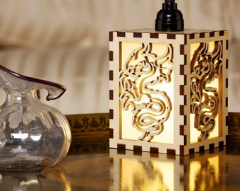 Dragon design hanging lamp