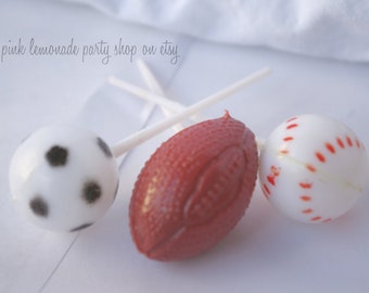 SPoRTs cupcake Picks--football, soccer and baseball--parties--olympic parties--boy birthday 12ct
