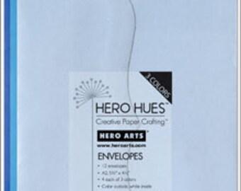 Hero Arts Sea Envelopes Blue azure cerulean powder PS617
