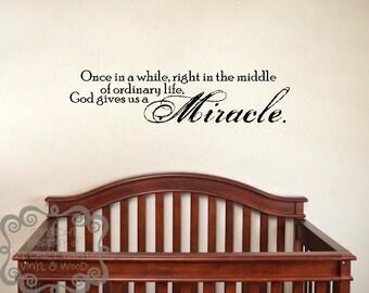 Miracle - Vinyl Wall Art