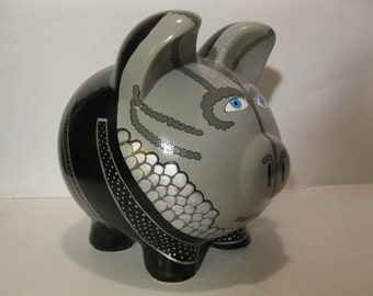 Cardassian piggy bank, Personalized, Large Piggy Bank- Star Trek - MADE TO ORDER