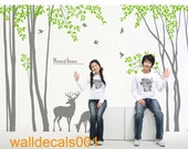 Vinyl Wall Decals Wall stickers-deer in Forest
