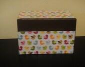 Ready to Ship Colorful Bird Recipe Box