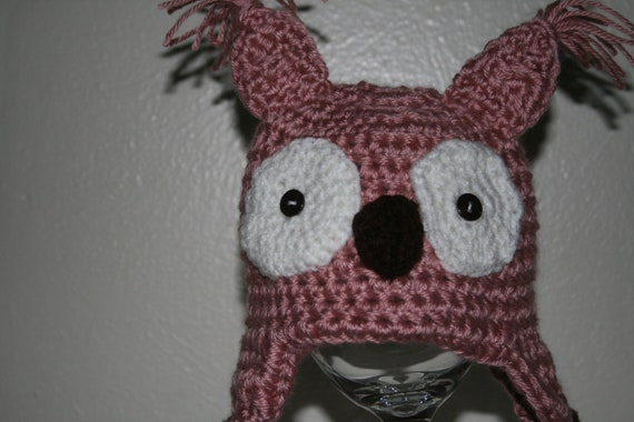 0-3 Girls Owl Hat - Ready to Ship