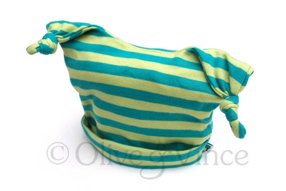 SALE - yellow blue green striped bug hat ready to ship size 1-2 years only