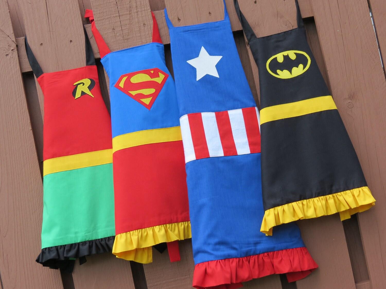 apron superhero apron adult no ruffles on men 39 s apron. Black Bedroom Furniture Sets. Home Design Ideas