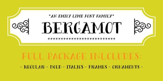 Bergamot Font Family