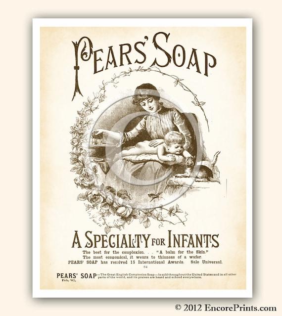 Pears Soap Ad Vintage Nursery Decor Vintage Art Print