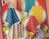 Dishcloth Crochet Pattern - Washcloth Crochet Pattern Book Vintage