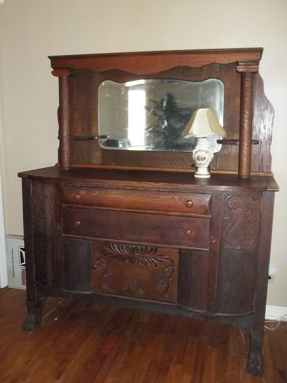 Items Similar To 1800 S Victorian Empire Sideboard Buffet