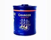 Royal Blue Tin, Antique 1930s Granger Pipe Tobacco