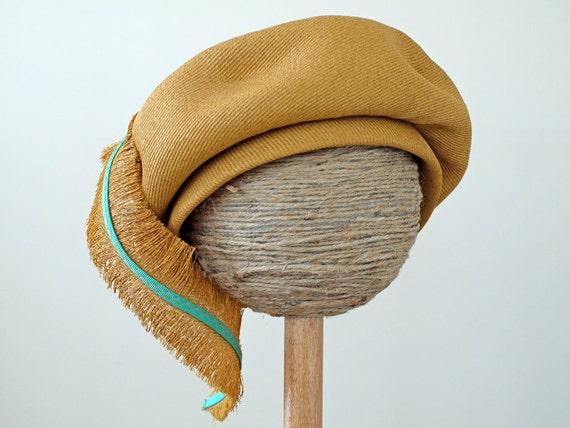 1960s Yves Saint Laurent Hat  / 60s Hat // Feather in Your Cap, Treasury Item