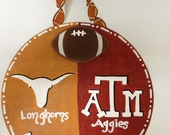 Items Similar To House Divided A Amp M And Ut Wall Hanging