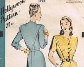 Vintage 1940's Hollywood Dress Pattern