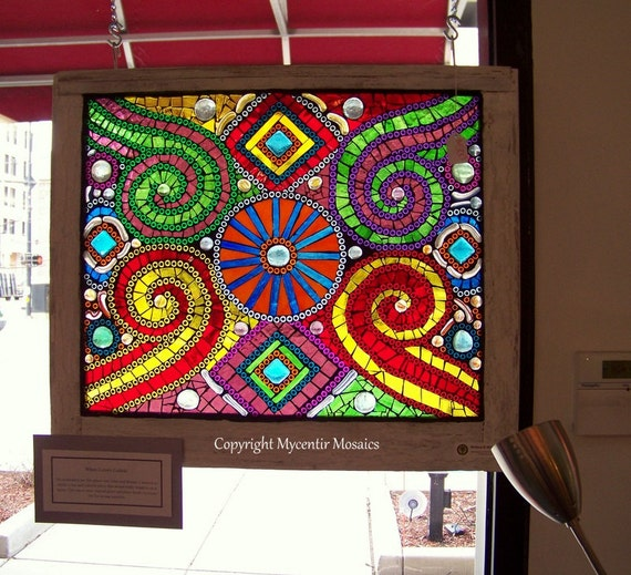 When Colors Collide (Stained Glass Hanging Window Mosaic