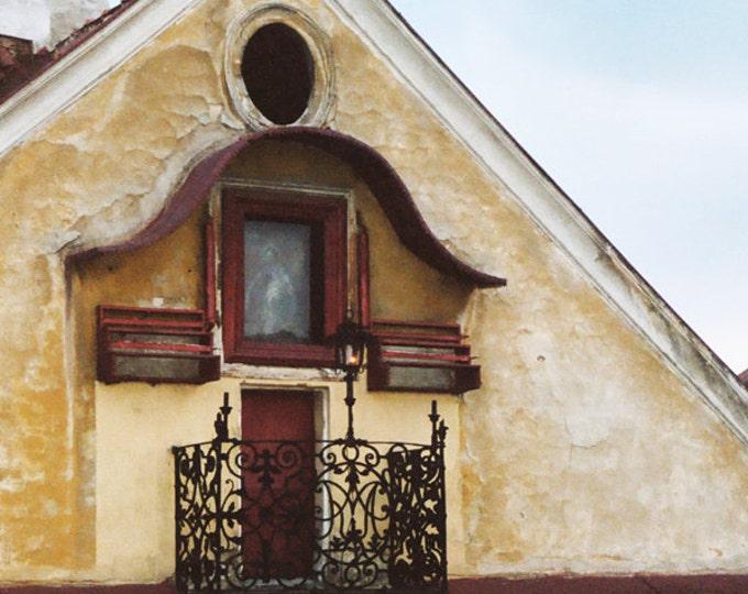 The Yellow House, Architectural Detail, Prague Czech Republic, 8x12 Fine Art Photograph International Travel