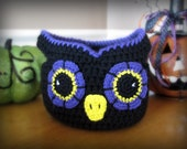 Owl Basket CROCHET PATTERN instant download - bag bowl