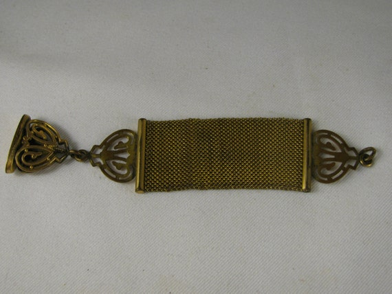 Reserved for Laura Macdonald Antique Victorian Monogram B Watch Fob Wax Sealer and Mesh Chain and Safety Chain as seen in 1927 Sears catalog