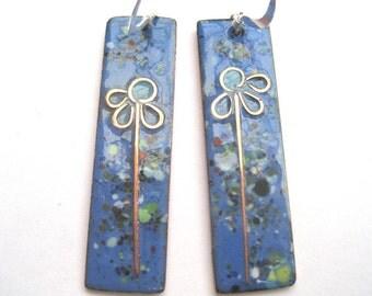 Lapis blue 'summer meadow' earrings