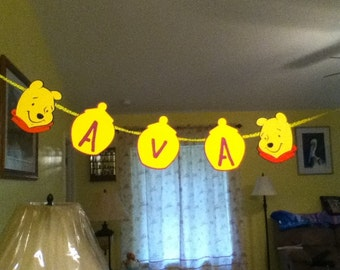 Cute  Pooh Birthday banner