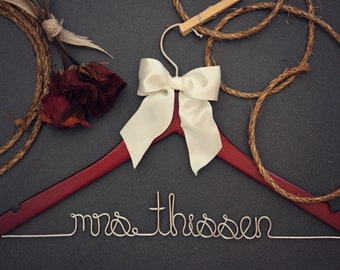 Bridesmaid Gift for Bridal Party- personalized hangers