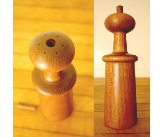 Dansk Teak Peppermill and Salt Shaker by Jens Quistgaard