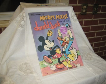 Mickey Mouse And Donald Duck 1970's Whitman Coloring Book Reproduction Of 1939 Book